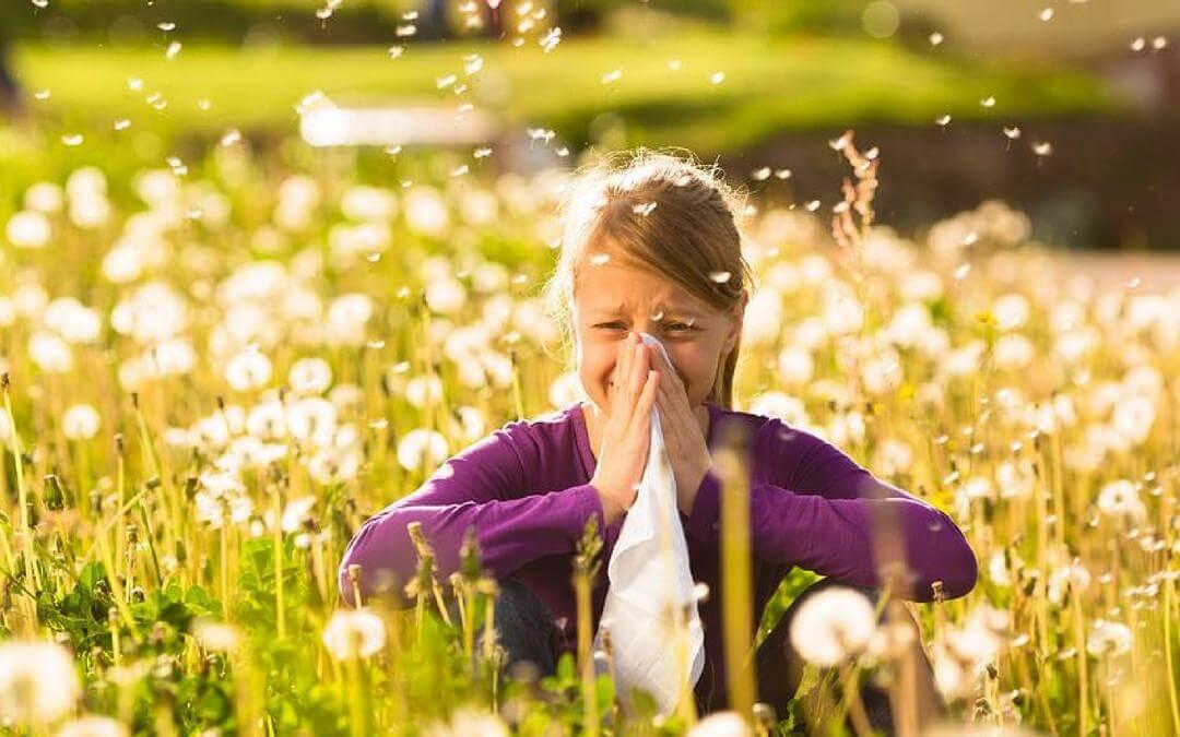 Cuidado de niños ante llegada de la primavera