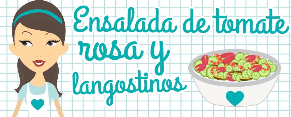 Cabecera receta ensalada de tomates y langostinos | Maid in Barcelona