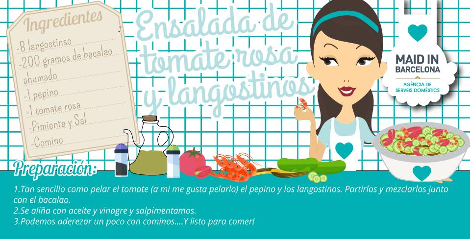 Receta ensalada de tomate rosa | Maid in Barcelona
